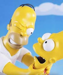 Homer vs Bart Iron Studios