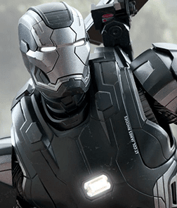 War Machine Mark II Diecast Hot Toys S/ Caixa Parda