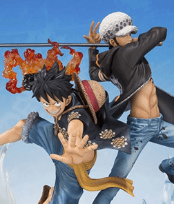 Monkey D Luffy and Trafalgar 5th Anniversary Ver Bandai