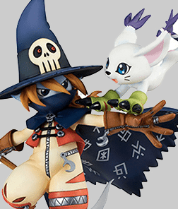 Wizardmon and Tailmon G.E.M MegaHouse