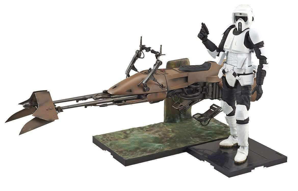 Scout Trooper e Speeder Bike Model Kit Bandai