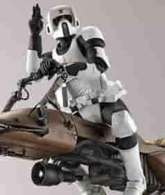 Scout Trooper e Speeder Bike Model Kit Bandai