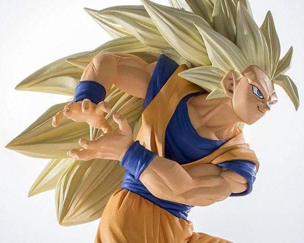 Son Goku Super Saiyan 3 Kamehameha Scultures Big Banpresto