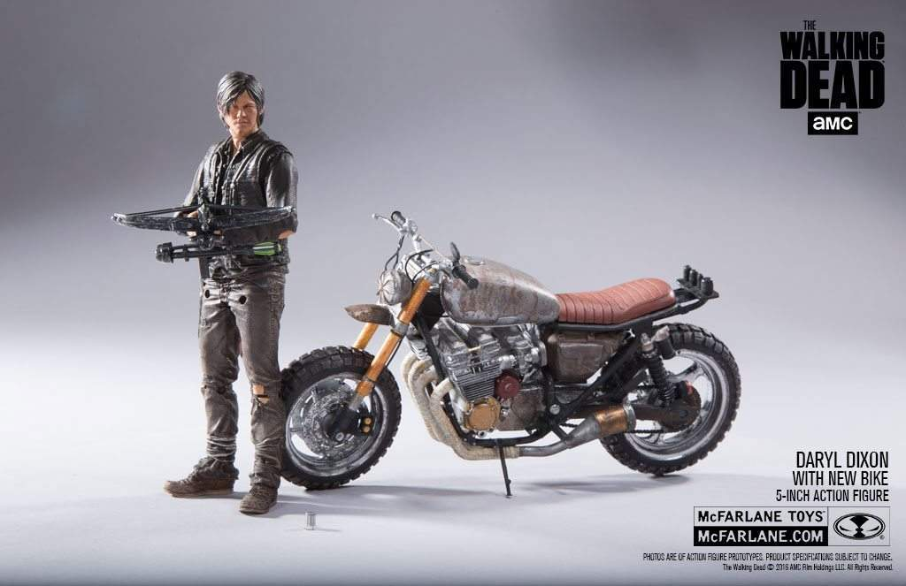 Daryl Dixon with New Bike McFarlane