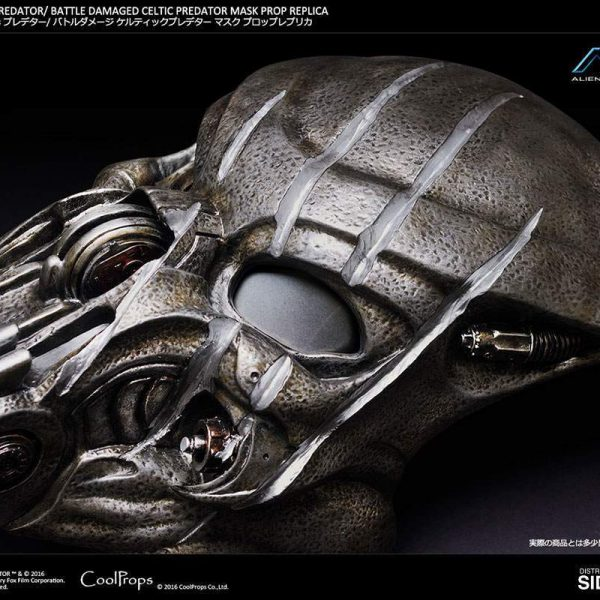 Celtic Predator Mask Battle Damaged  Prop Replica Sideshow Collectibles