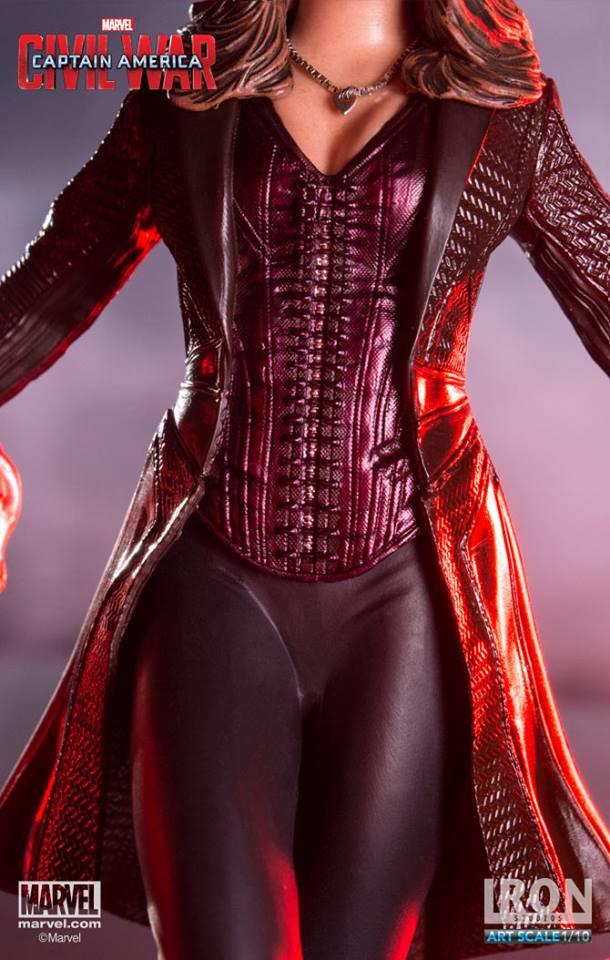 Scarlet Witch Civil War Iron Studios Feiticeira