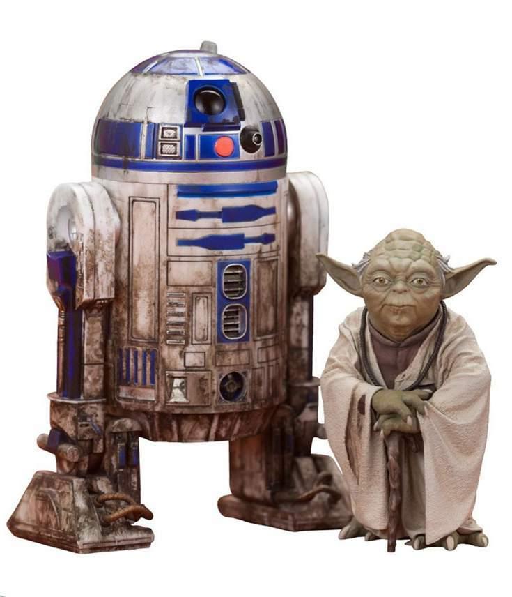 Yoda & R2-D2 Dagobah Pack Kotobukiya
