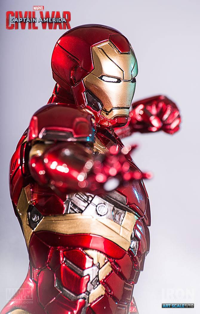 Iron Man Mark XLVI Civil War Art Scale Iron Studios