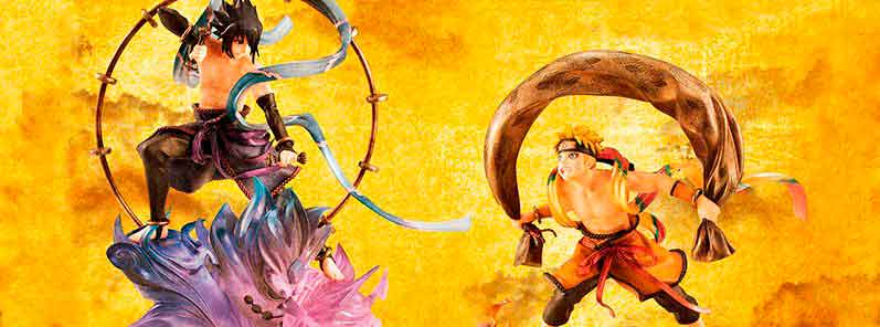 Naruto Uzumaki Fujin e Sasuke Uchiha Raijin Set GEM MegaHouse