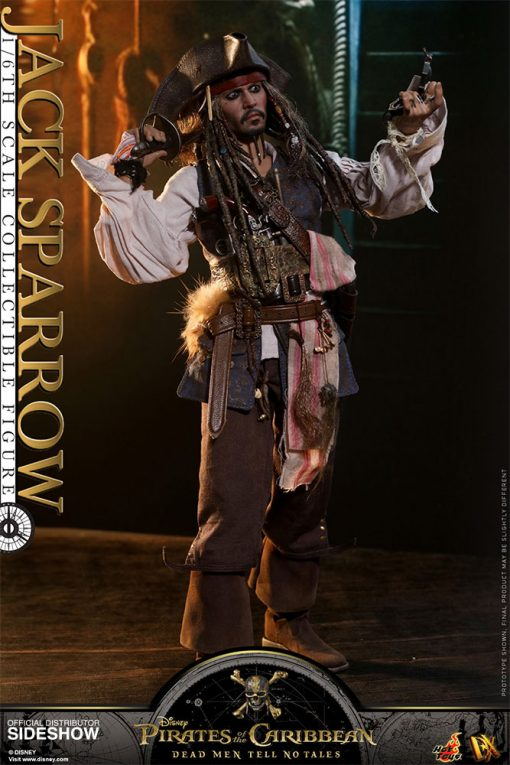 Jack Sparrow Dead Men Tell no Tales Hot Toys