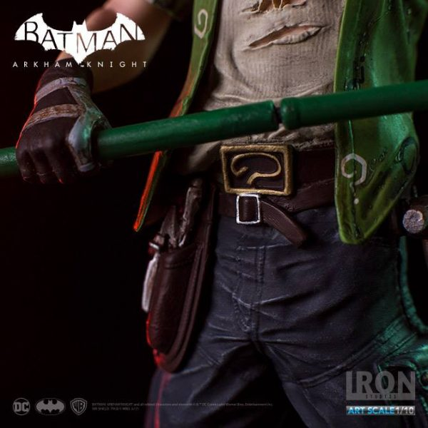 The Riddler Arkham Knight Art Scale Iron Studios