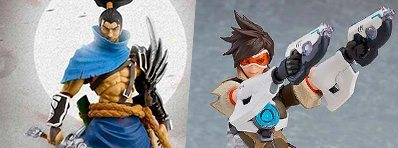 Novas figuras League of Legends e Overwatch Figma