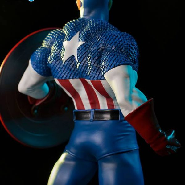 Captain America Marvel Comics Art Scale Iron Studios