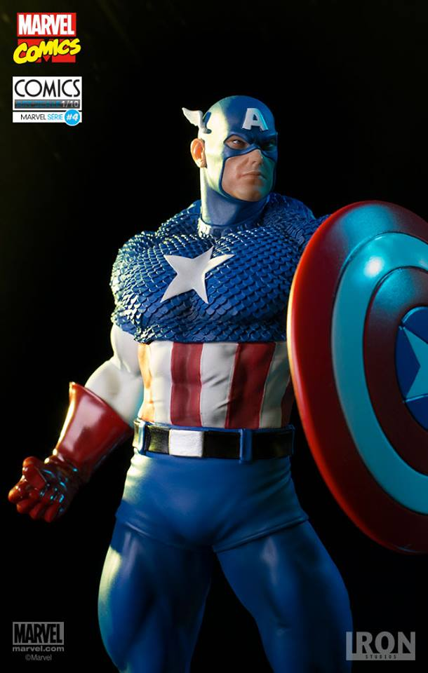Captain America Marvel Comics Art Scale Iron Studios