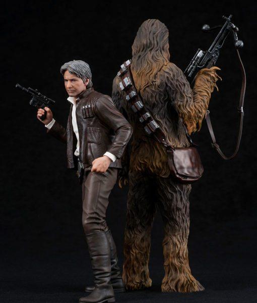 Han Solo & Chewbacca Star Wars VII ArtFX+ Kotobukiya