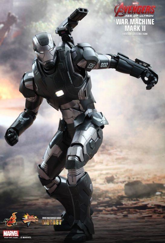 War Machine Mark II Diecast Hot Toys S/ Caixa Parda